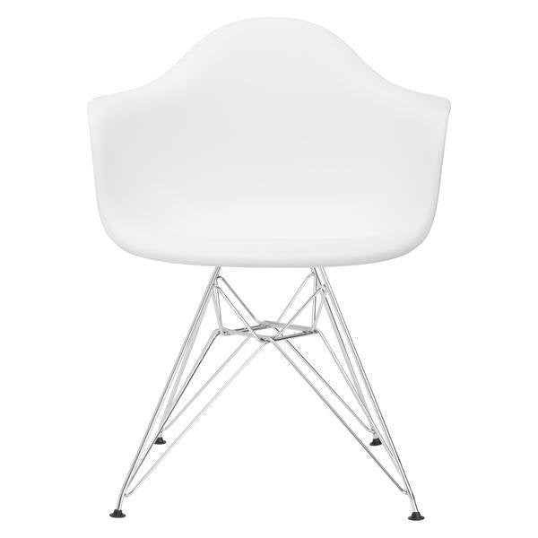Bora Arm Chair Chrome Base White