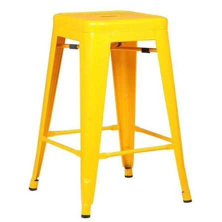 "Holsak 24"" Counter Height Stool Yellow (Set of 2)"