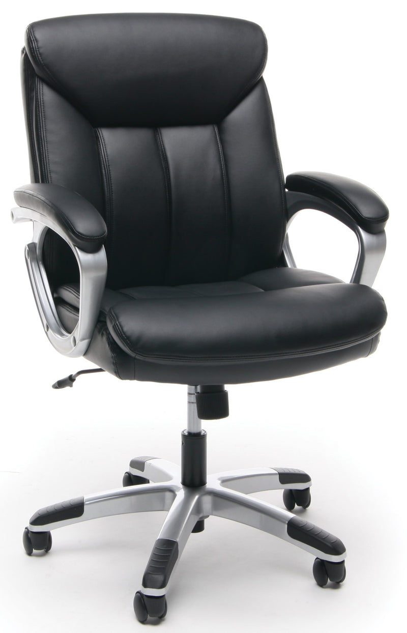 Essentials Executive Office Chair Black And Silver