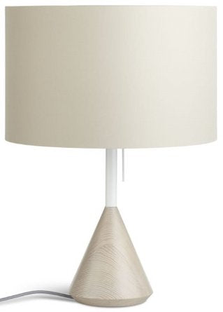 Flask Table Lamp Whitewashed Ash