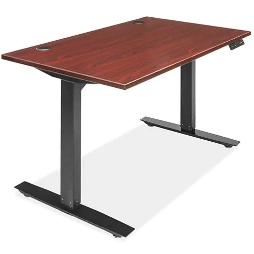 Adjustable Height Desk 48 x 30 Mahogany