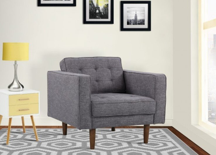 Achernar Mid-Century Modern Chair Dark Gray