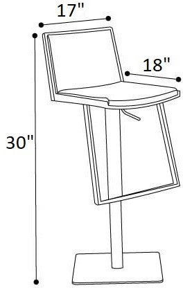Irtish Adjustable Barstool Gray