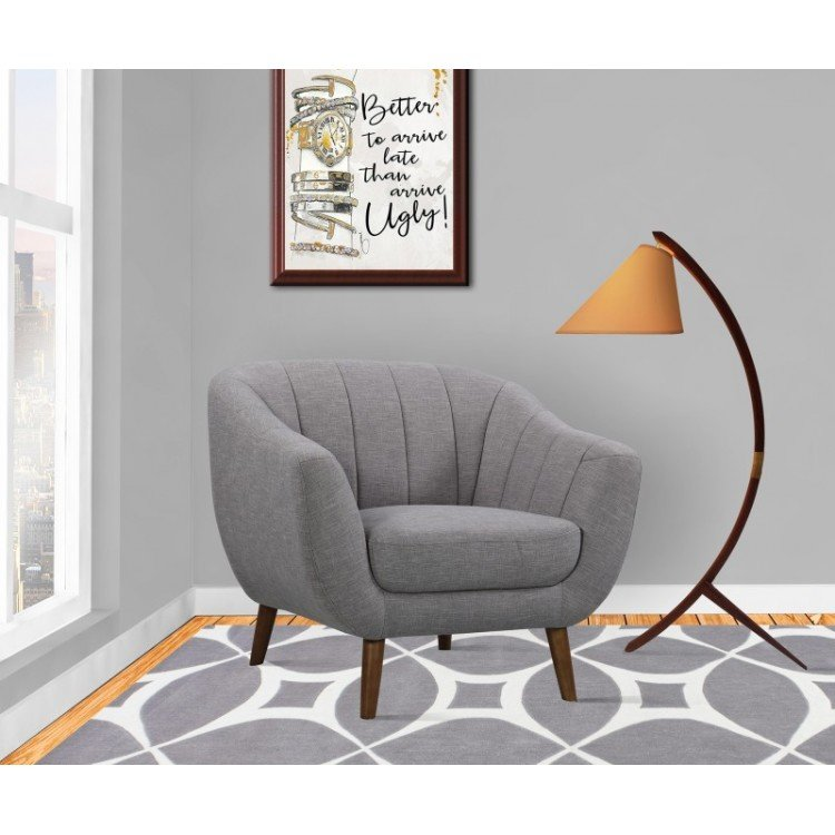 Purus Mid-Century Contemporary Chair Light Gray