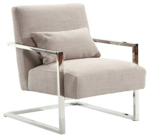 Rafael Skyline Modern Accent Chair Gray