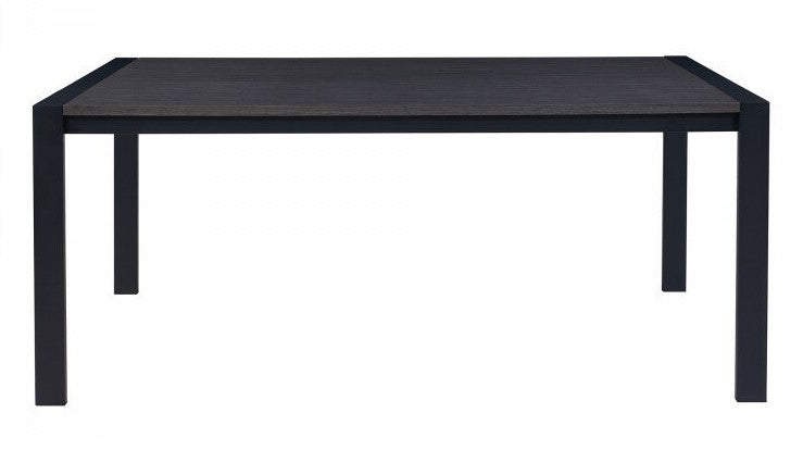 Nicholas Contemporary Dining Table Gray & Matte Black