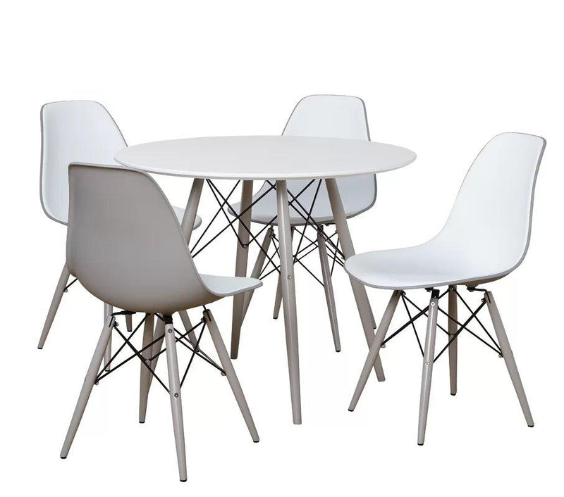 Draup Dining Set For 4 White