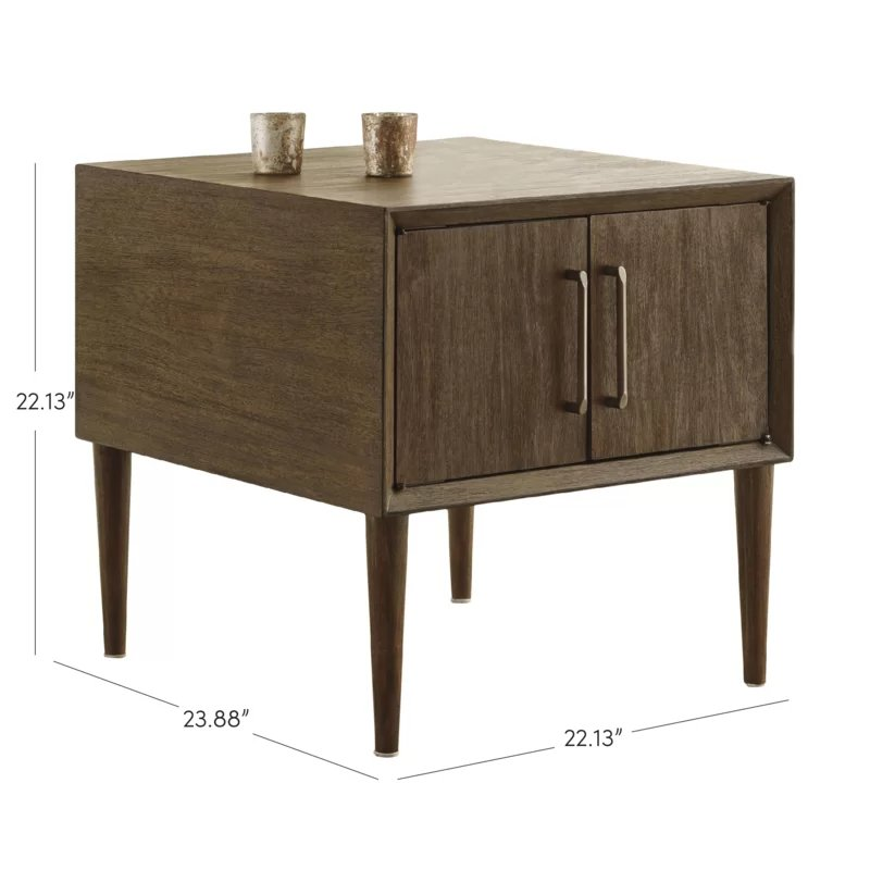 Kildare End Table with Storage Brown