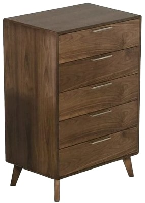Kent 5 Drawer Chest Walnut