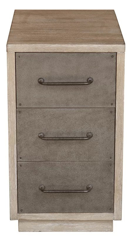 Neagle Industrial Style 3 Drawer Accent Chest Brown