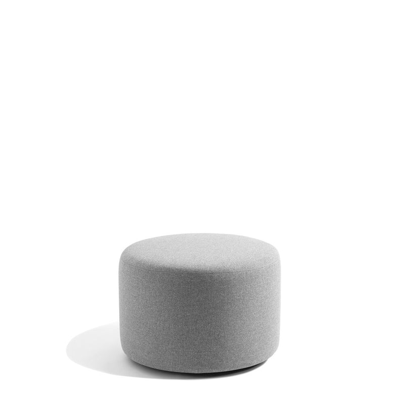 "24"" Round Ottoman Light Gray"