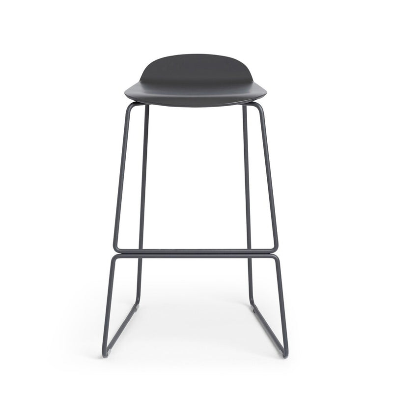 Low Back Stool Charcoal