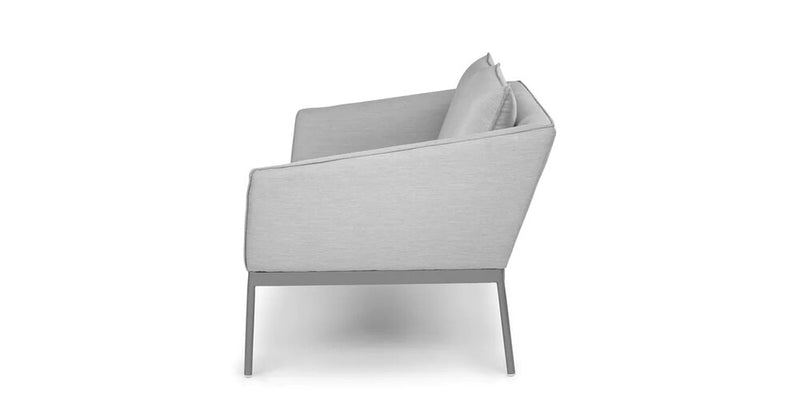 Article Palo Contemporary Outdoor Loveseat Polama Gray