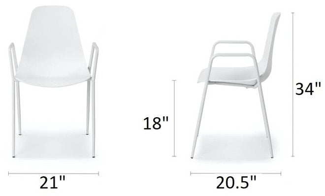Article Svelti Dining Chair Pure White (Set of 2)