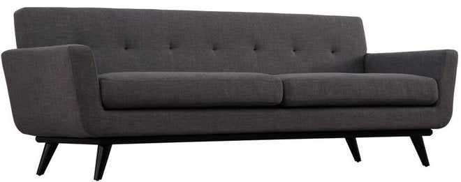 James Linen Sofa Gray