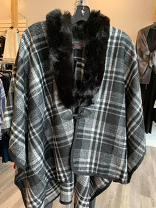 Model France Cape with Faux Fur Collar