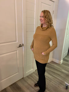 Alison Sheri Gold Tunic Sweater