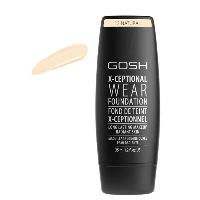 Gosh X-Ceptional Wear Foundation Long Lasting Makeup 12 Natural 35ml