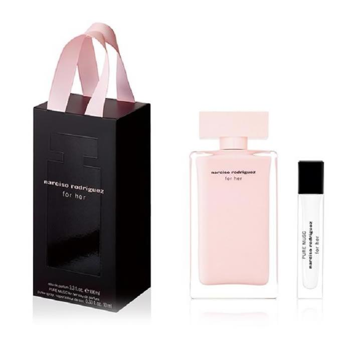 Narciso Rodriguez For Her Eau De Perfume Spray 100ml Set 2 Pieces 2019