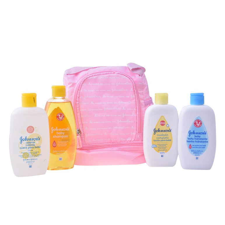 Johnsons Baby Pink Backpack Set 5 Pieces 2018