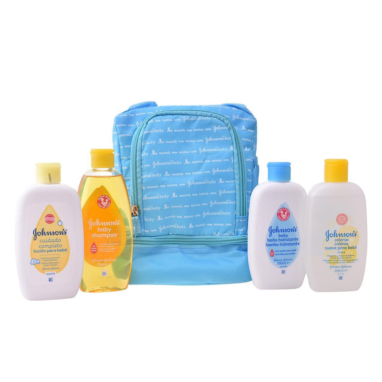 Johnsons Baby Blue Backpack Set 5 Pieces 2018