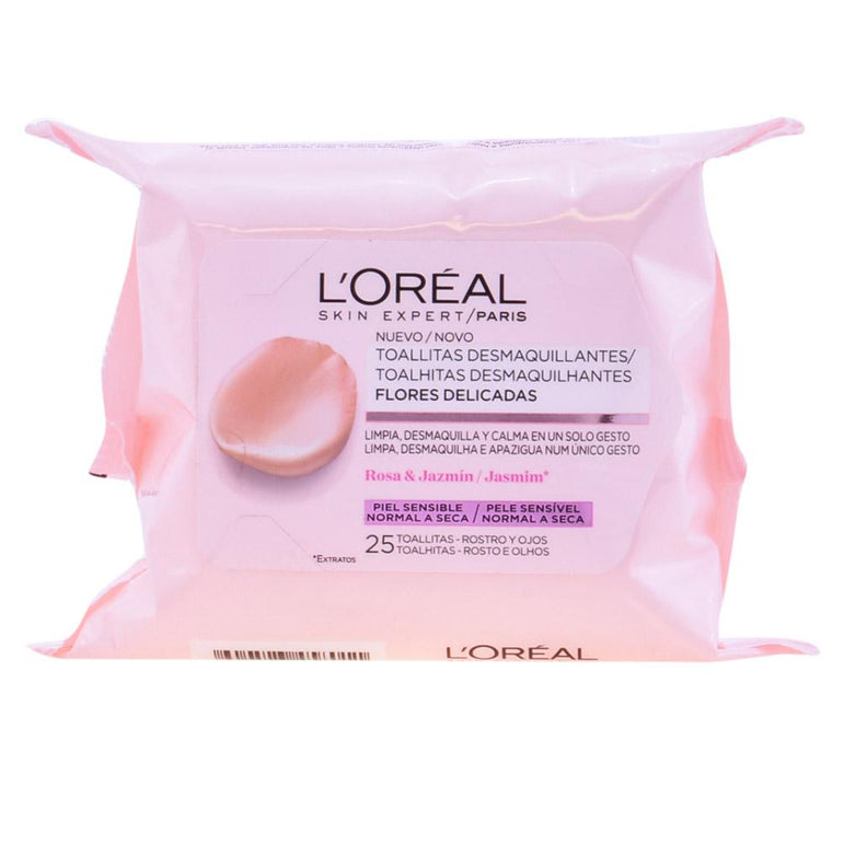 Loreal Delicate Flowers Make Up Remover Wipes Sensitive Skin 25 Units