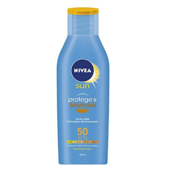 Nivea Sun Protect And Bronze Tan Activating Sun Lotion Spf50 200ml