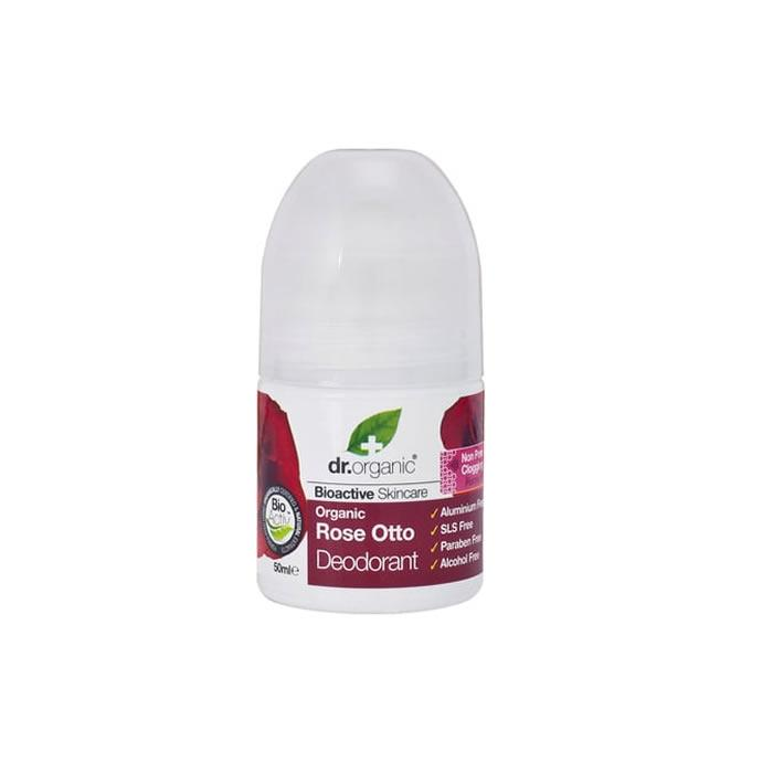 Dr Organic Rose Otto Deodorant Roll On 50ml