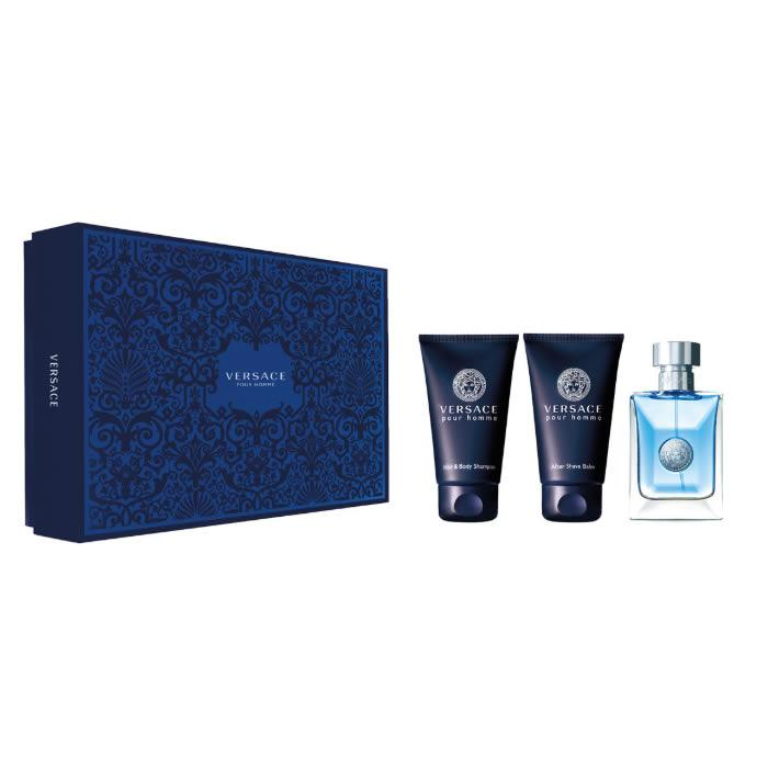 Versace Pour Homme Eau De Toilette Spray 50ml Set 3 Pieces 2019