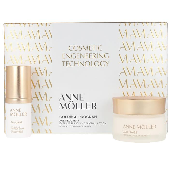 Anne Moller Goldage Restorative Spf15 50ml Set 3 Pieces 2019