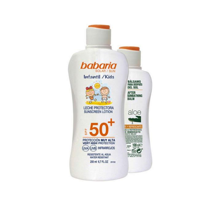 Babaria Sun Kids Sunscreen Lotion Water Resistant Spf50 200ml Set 2 Pieces 2019