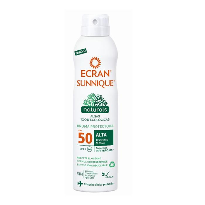 Ecran Sunnique Naturals Protective Haze Spf50 Spray 250ml