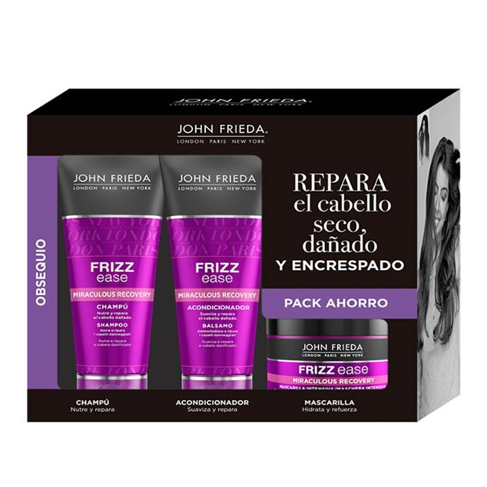 John Frieda Frizz Ease Intensive Strengthening Mask 250ml Set 3 Pieces