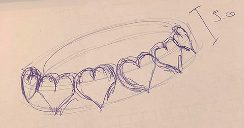 first sketch of the hearkies collection by gwumm