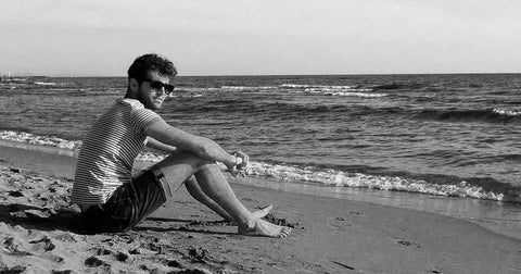 adult Cipriano on the beach