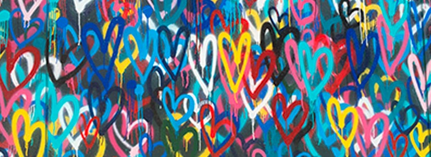 heart shapes on a wall