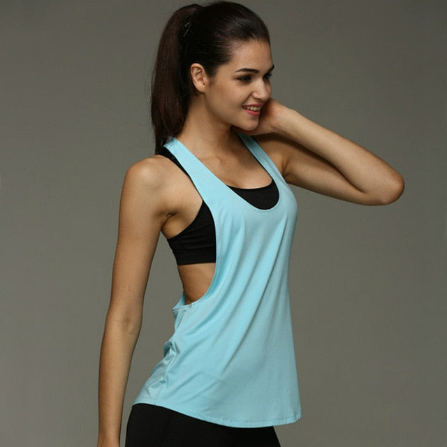 Backless Loose Workout Tank