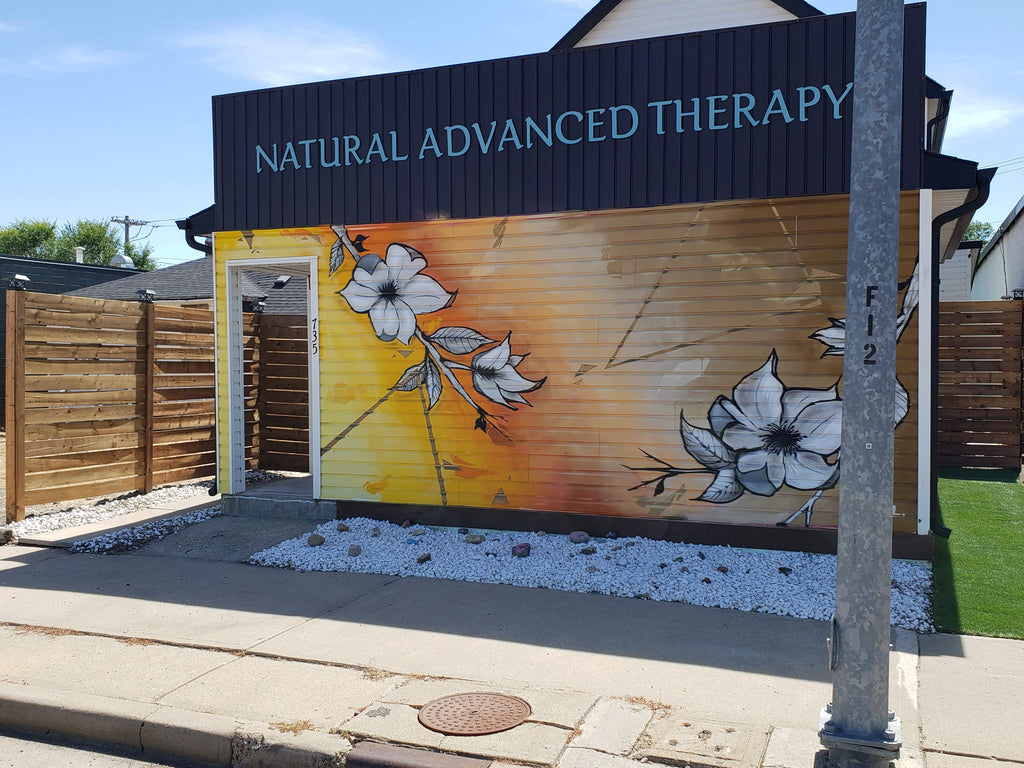 Natural Advanced Therapy front of store.
