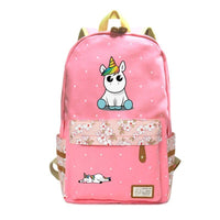 Cartable Licorne Rose