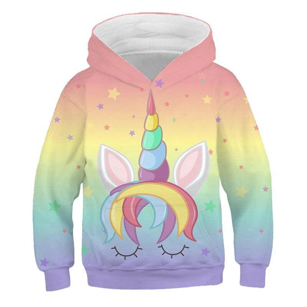 sweat Licorne arc-en-ciel