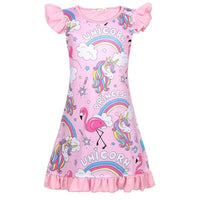Robe Flamant Rose pour Fille