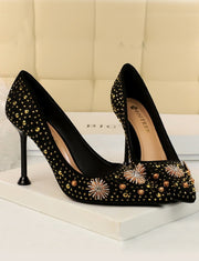 Strass Talons Chaussures Vintage