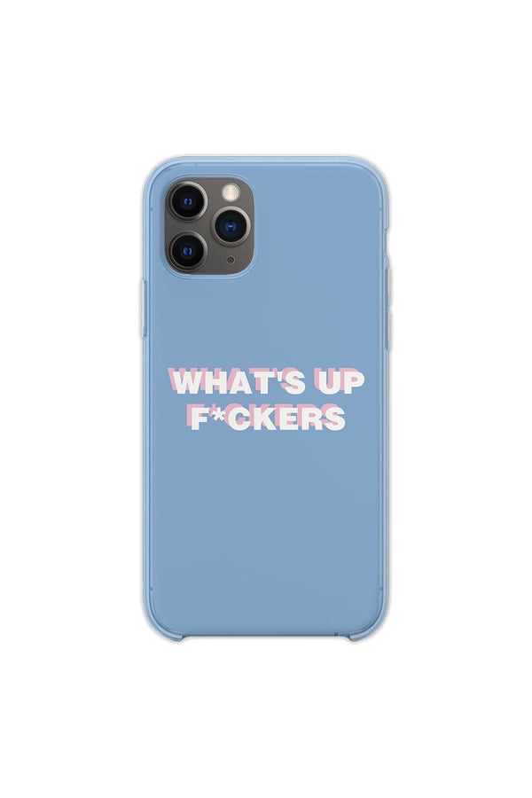 Sadie Crowell: 'WHAT'S UP F*CKERS' Baby Blue Phone Case