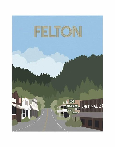 Felton Print by Vitousek Illustration