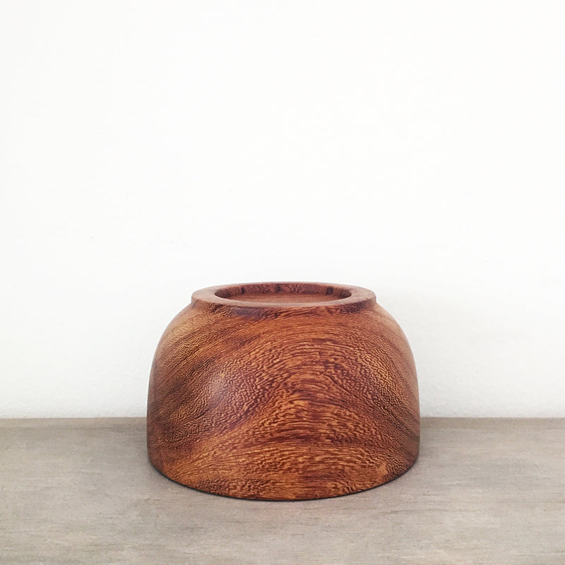 Handmade Tropical Wood Snack Bowl