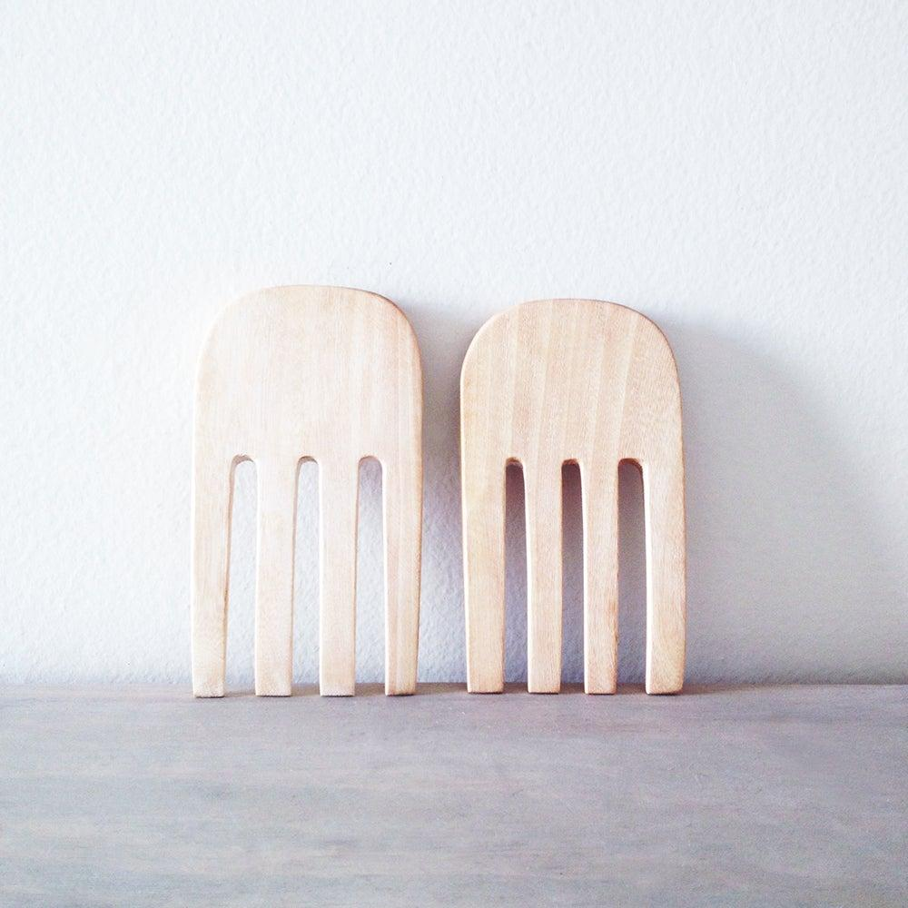 Handmade Jacaranda Wood Serving Forks