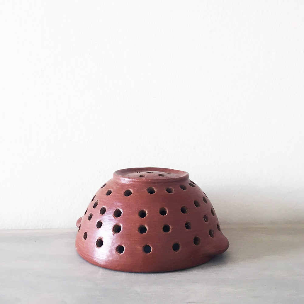 Handmade Barro Rojo Pottery Berry Small Colander