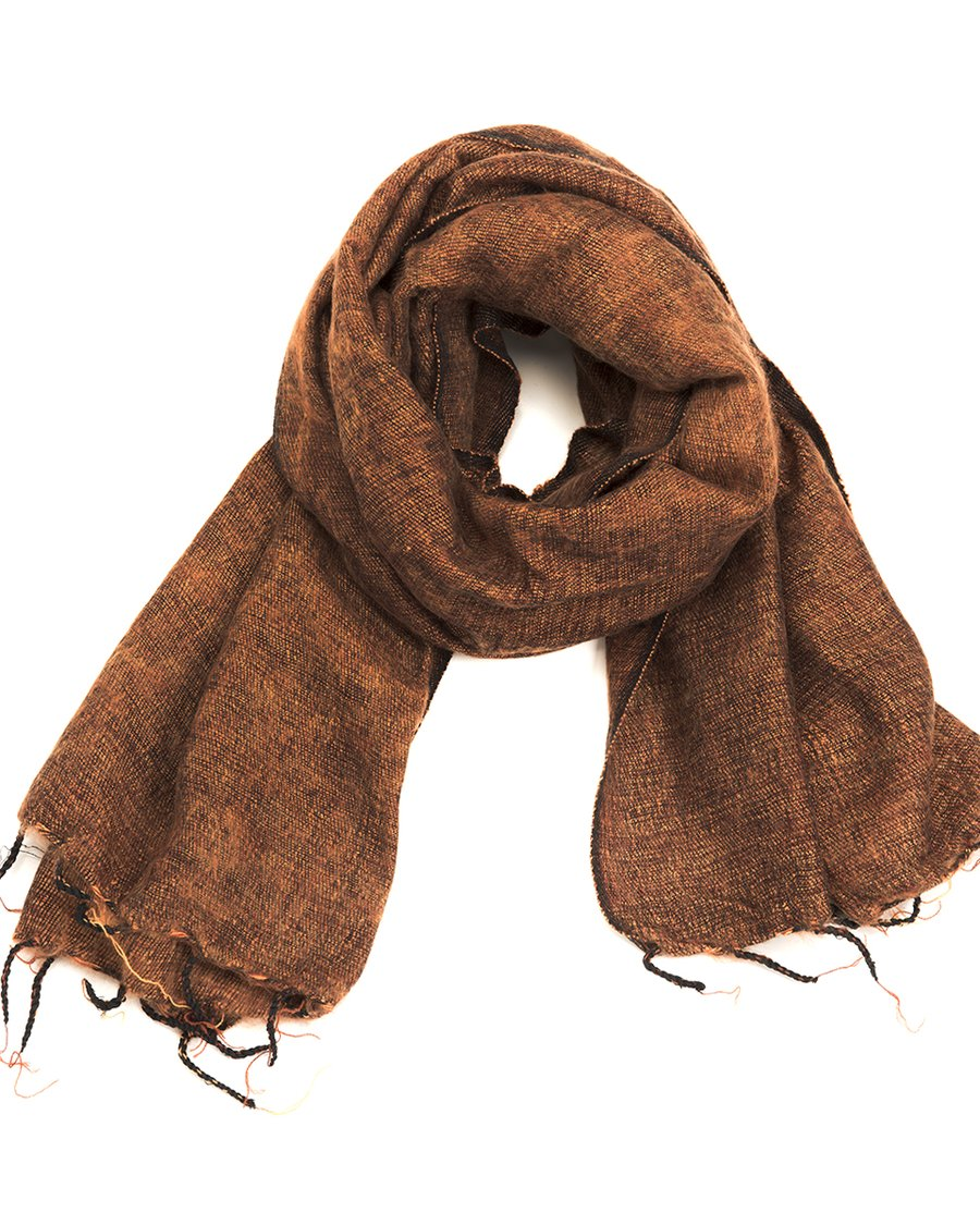 Brushed Woven Shawl, Cinnamon