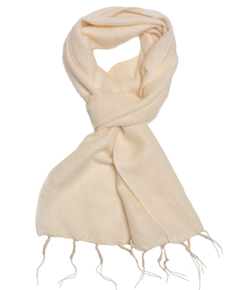 Brushed Woven Scarf, White