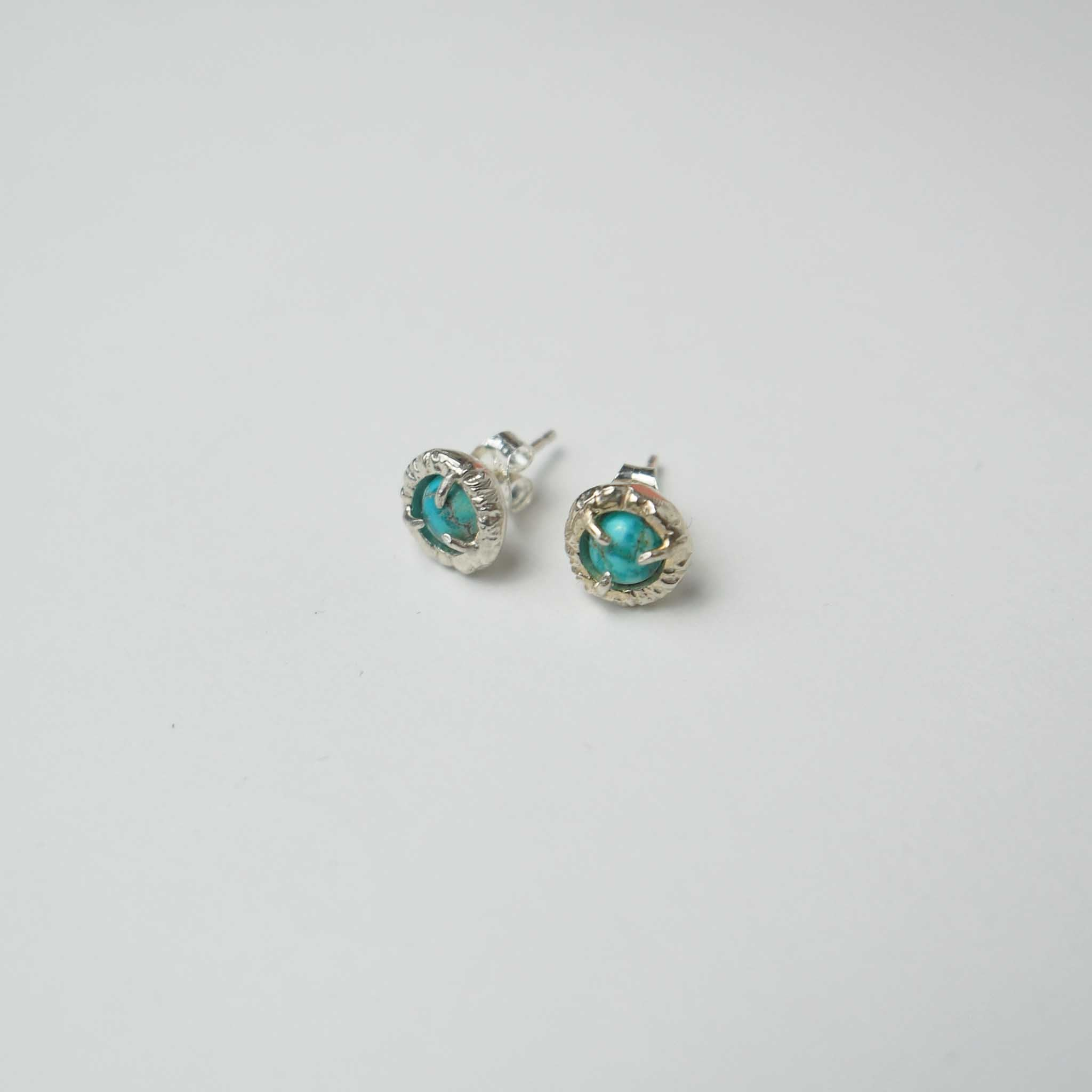 Jade Cove Earrings in Silver by Monica Squitieri